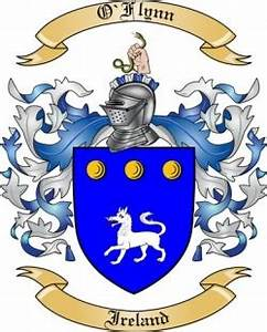 O 39 Flynn Family Crest From Ireland By The Tree Maker