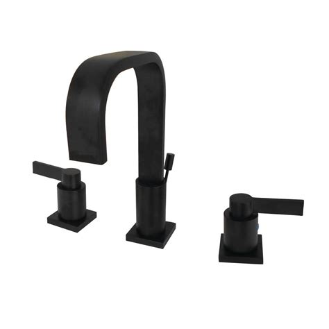Modern Bathroom Faucets Home Depot by Kingston Brass Modern 8 In Widespread 2 Handle High Arc