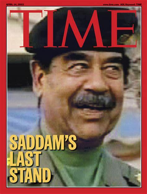 time magazine cover saddams  stand apr