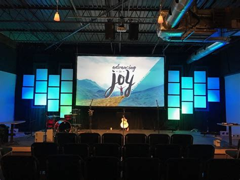 Church Stage Backdrop by Jason Poeffel From Crosspointe Church In Peachtree City