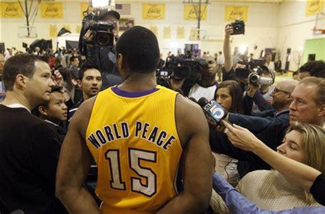 Metta World Peace, Formerly Ron Artest, Sports Jersey ...