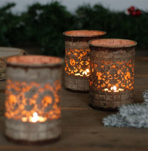 moroccan vintage candle tea light holder lantern by made