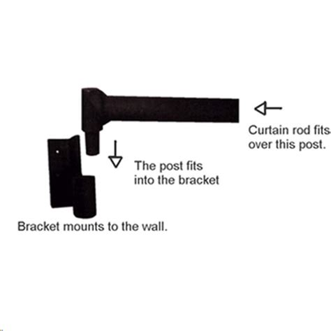 drapery swing arm curtain bracket 1 quot 99161