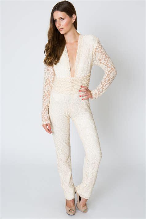 lace jumpsuit lace evening jumpsuit 70s style dreamers and