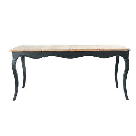 table de salle 224 manger 224 rallonge en bois l 180 cm versailles maisons du monde