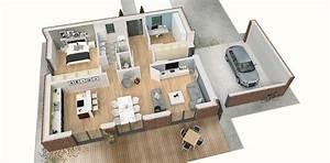 Grundriss Villa Modern : einfamilienhaus grundriss modern 3d ~ Lizthompson.info Haus und Dekorationen