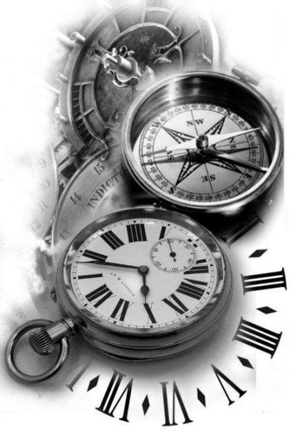 tattoo compass sleeve clock ideas compass tattoo