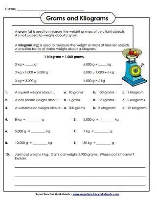 weight grams and kilograms worksheets dubai measurement worksheets math formulas math