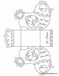 Poule Pour Paques : coloriage bo te p ques poule colorier et d couper ~ Zukunftsfamilie.com Idées de Décoration