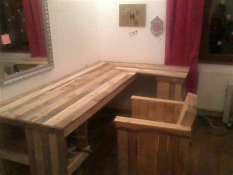diy wood l diy pallet computer desk and chair pallet furniture plans