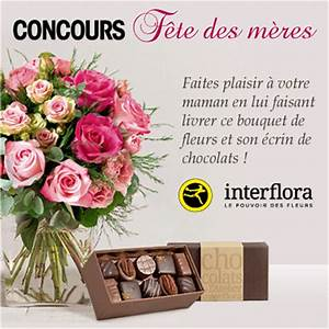 Bouquet De Fleurs Interflora : remportez bouquet fleurs interflora son ecrin chocolats pour fete des meres ~ Melissatoandfro.com Idées de Décoration