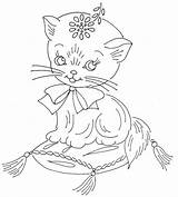 Embroidery Patterns Cat Flickr Coloring Jamboree Juvenile Cats Sew Pattern Stitch Recent English Transfers Outline sketch template