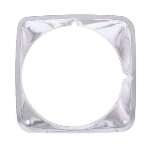 anodized aluminum headlight bezel compatible  chevrolet   truck rh