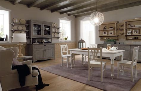 Sala Da Pranzo Country sala da pranzo con arredamento rustico