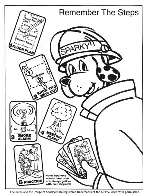 sparky  fire dog coloring pages coloring home