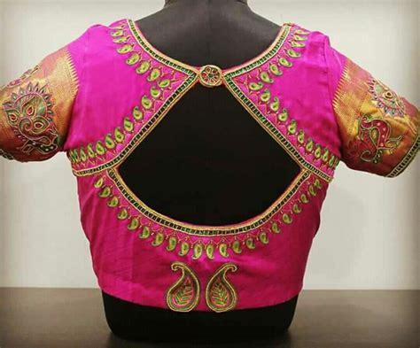 Pin by Almeena on Embroidery N Aari Work | Pink blouse ...