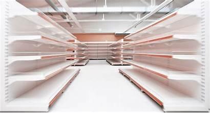 Shelves Empty Supermarket Sold Target Shelving Aisle