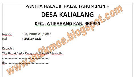 contoh kata kata undangan halal bi halal contoh isi undangan