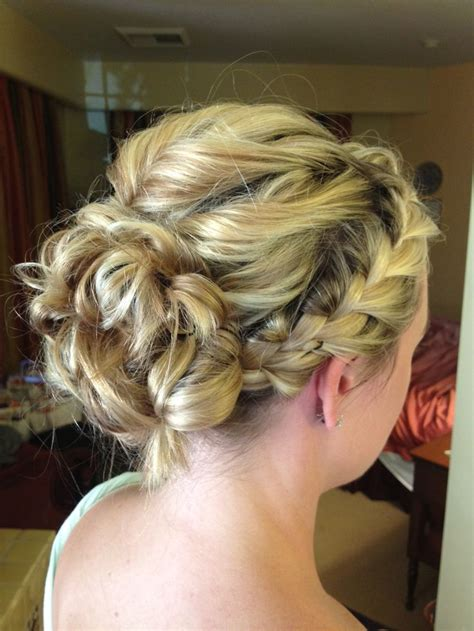 braided romantic updo i did for a bridesmaid bridesmaid