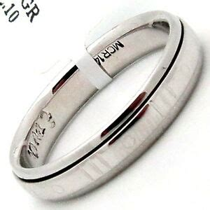 mens rotating  white gold wedding band size  polished