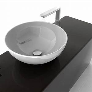 Vasque Ronde A Poser 30 Cm : vasque ronde poser 46 cm en c ramique blanche artceram ~ Premium-room.com Idées de Décoration
