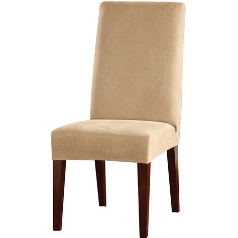 chair slipcover sure fit scroll brown wing chair slipcover walmart com
