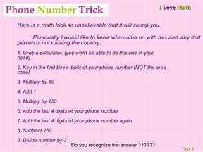 Math Magic Tricks with Numbers