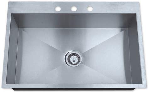 best stainless steel sinks as325 33 quot x 22 quot x 10 quot 16g single bowl topmount legend