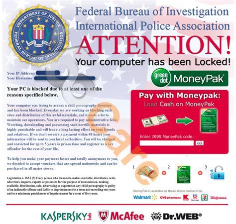 fbi bureau of investigation remove fbi moneypak scam without paying yoosecurity