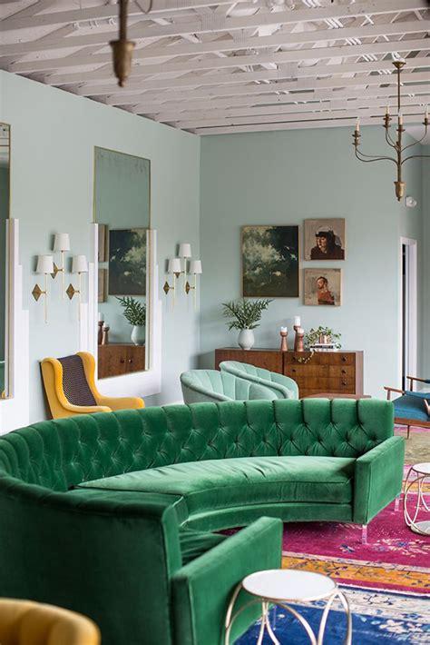 green velvet upholstery  living rooms inspiration
