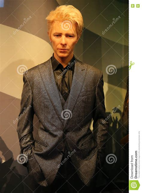 David Bowie Of Amsterdam by David Bowie Wax Statue Editorial Photo Image 78553881