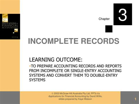 incomplete records powerpoint  id