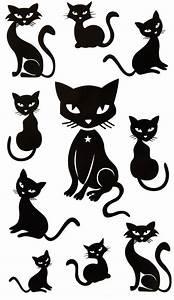 Steine Bemalen Katze : katzen ideen rund ums haus pinterest katzen silhouette katzen and vorlagen ~ Watch28wear.com Haus und Dekorationen