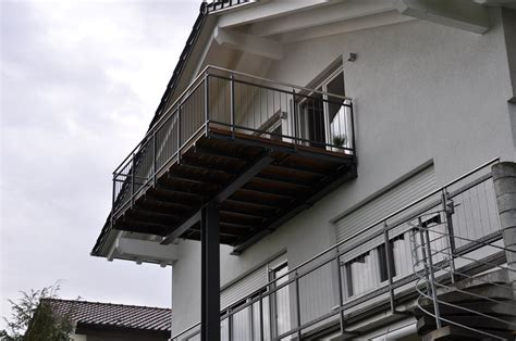 balkonanbau pluederhausen stahlbau naegele
