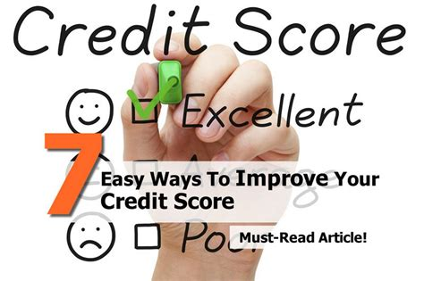 7 Easy Ways To Improve Your Credit Score
