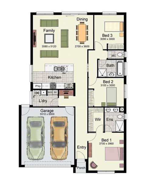 single story home floor plan   bedrooms double garage   square meters house