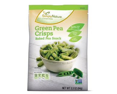 Aldi Us  Simplynature Green Pea Crisps