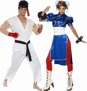 Déguisement Couple Célèbre : d guisement couple street fighter costume chun li et ryu jeu vid o ~ Melissatoandfro.com Idées de Décoration