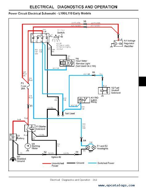 deere l100 l108 l110 l111 l118 l120 l130 lawn tractors tm2026 technical manual pdf