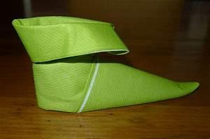 Pliage Serviette En Papier Noel : pliage de serviette en papier pour noel chausson ~ Farleysfitness.com Idées de Décoration