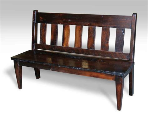 bench with back slat back antique pine bench with stain olde