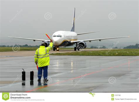 airport stuff stock of yellow aeroplane 1137792