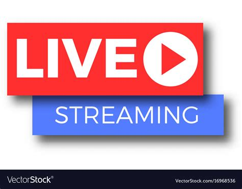Tv Live by Live Tv Logo Icon Royalty Free Vector Image