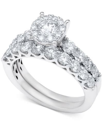 bridal ring in 14k white gold or gold 2 ct t w rings jewelry watches macy s