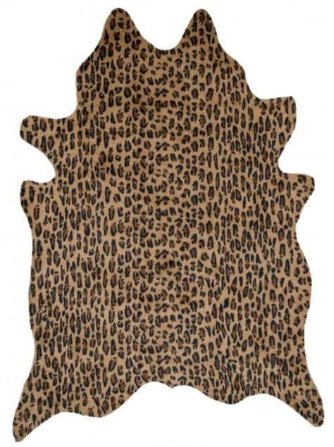 Leopard Cowhide Rug by Faux Cowhide Ottoman Products Bookmarks Design