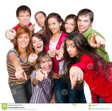 Szczęśliwa Młoda Grupa Ludzi Obraz Royalty Free - Obraz ...