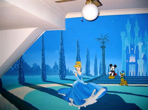 cinderella mural disney mural princess murals