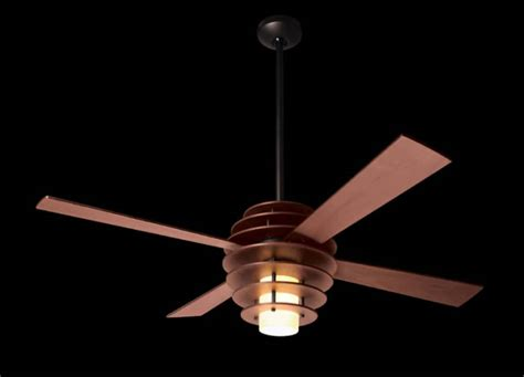 install a mid century modern ceiling fan that will give