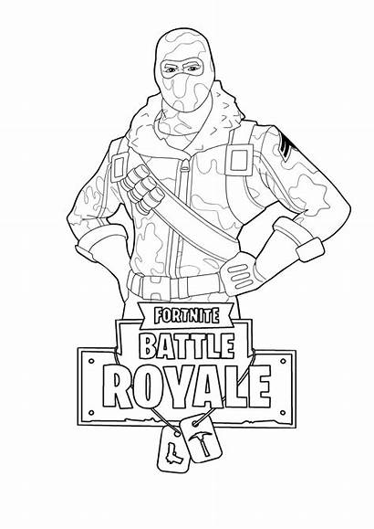 Fortnite Coloring Pages Players Battle Royale Printable