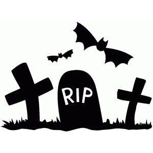 graveyard scene halloween silhouettes halloween